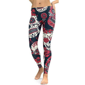 Women Workout Clothes Fitness Woman Leggings Elasticity  Floral Sportlegging Trousers Winter Pants Sporting Sportswear