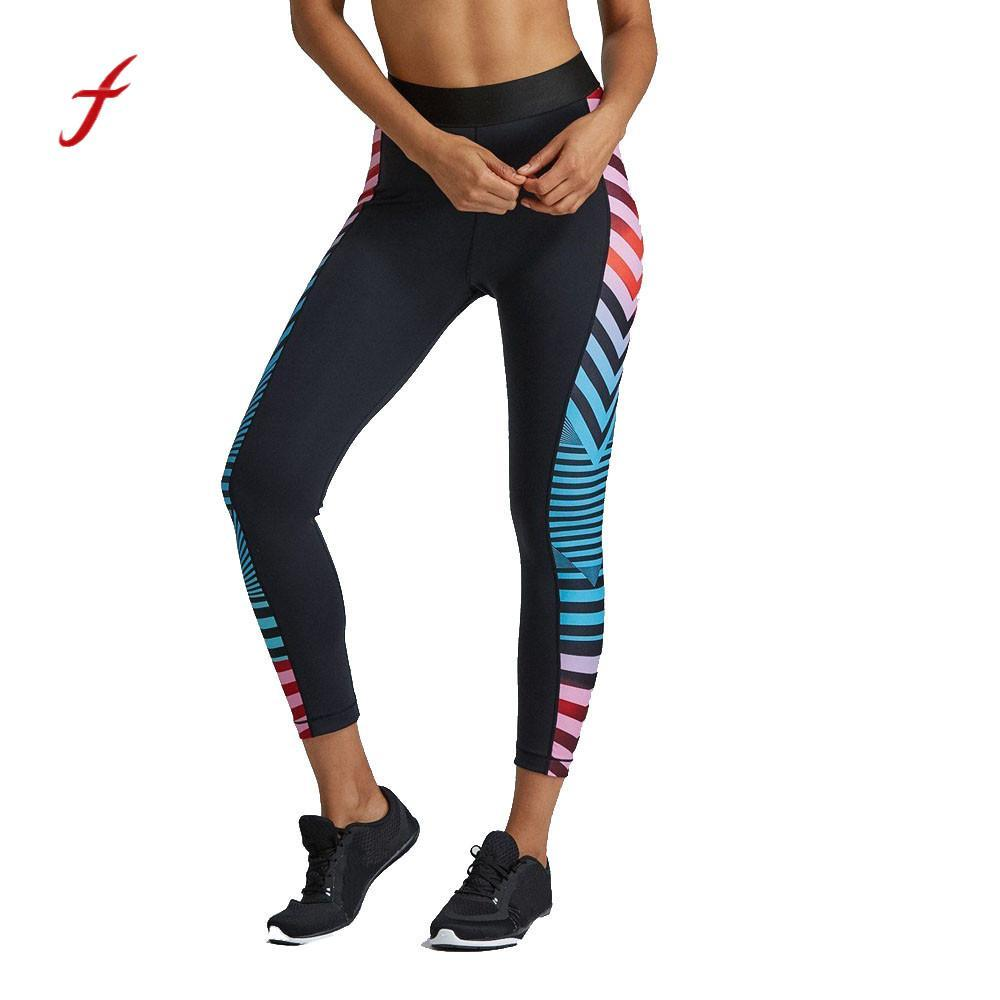 USPS feitong Printed Women Fitness Leggings Stretch High Waist Pants Clothes Trouser pantalon mujer