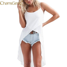 Load image into Gallery viewer, Chamsgend Tops & Tees Women Summer Sexy Irregular Long Tail Thin See Through Chiffon Camisole Female Tank Top 80108