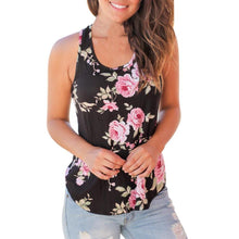 Load image into Gallery viewer, Feitong new Women Casual Sleeveless Floral Top Vest Tank Shirt fashion Cami Top cotton hot sale Plus Size 2018 tank tops