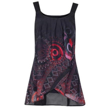 Load image into Gallery viewer, Summer New Sexy Print Shirt Sleeveless O-Neck Vest Tank Tops casual Fitness Tees colors 6 plus size 5 XL Female Camisas Mujer
