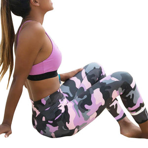 Legings Women Push up Camouflage Workout Fitness Exercise Elastic Pants Academia Mulher Polainas de mujer jd4