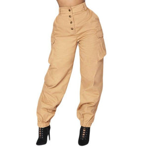 Casual Pants Women High Waist Harem Pants Elastic Waist Drawstring Loose Trousers Pantalon Femme Sweatpants Leisure Summer