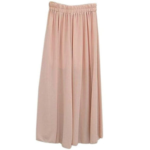 High Waist Chiffon loose Pants Summer solid color Casual Pants Female Wide Leg  Long Bloomers Trousers pantalones mujer