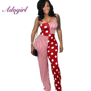 2 Piece Set Clubwear Striped Dot Patchwork Women Strapless Tank Short Top Drop And WideLong Pants