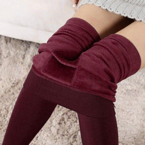 Women Winter Thick Warm Fleece Lined Thermal Stretchy Leggings Pants 8 Colors Warm thickened snow  wear