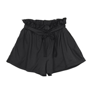 Fashion Woman Shorts  Women Casual Design High Waist Loose Fashionable Shorts Female With Belt  Szorty#LSJ