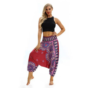 2018 hot selling women clothing Loose Trousers Women Casual Summer Baggy Boho Aladdin style breathable Elasticity Harem Pants