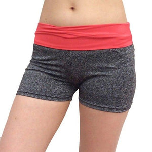 Women Patchwork Sports Shorts Gym Workout Waistband Skinny Skinny Gym Fitness Running