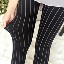 Load image into Gallery viewer, 2018 New Fashion Women Elasticity Skinny Striped Stretchy Pants Leggings Pants Casual Ladies Cropped Pants