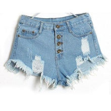 Load image into Gallery viewer, 1PC Women Vintage High Waist Jeans Hole Short Jeans Denim Shorts