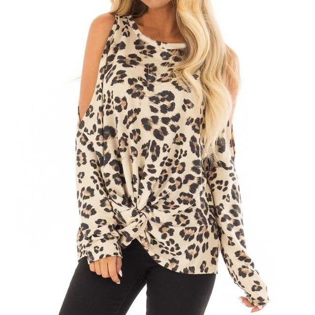 2018 Autumn Fashion Women T-shirt O-Neck long sleeve Leopard Print loose Casual Feamle Top leisure blusas & shirt S-XL