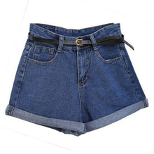 Load image into Gallery viewer, ReYro High WaisYed Denim ShorYs For Women Rolled Denim Jeans ShorYs WiYh PockeYs Summer Loose Slim ShorYs S-2XL Y8