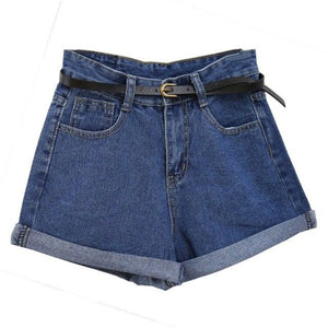 ReYro High WaisYed Denim ShorYs For Women Rolled Denim Jeans ShorYs WiYh PockeYs Summer Loose Slim ShorYs S-2XL Y8