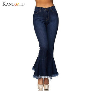 KANCOOLD jeans Women Hight Waisted Skinny Hole Denim Jeans Stretch Slim Pants Bell-bottoms fashion jeans woman 2018Oct24