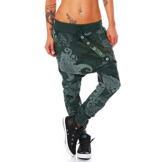 Polyester fiber Womens Fashion Man Girl Octopus Print Baggy Loose Fit Trousers Sports Pants #81625