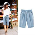newest style hot sale summer Plus Size Casual Women Cotton Linen Pants Elastic Waist Summer Slim Lady for women