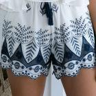 shorts for women summer newest style hots sale Lace Embroidery Bohemian Casual Shorts pantalones cortos para mujeres veran