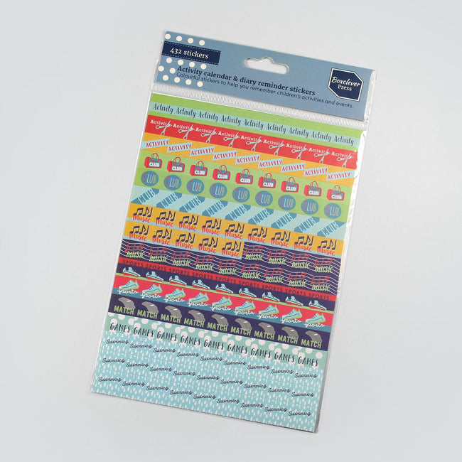 BCSTICK-1-ACT-Gallery_1 Reminder stickers Activity, sport, music and club multicolour planner and diary stickers on purple background