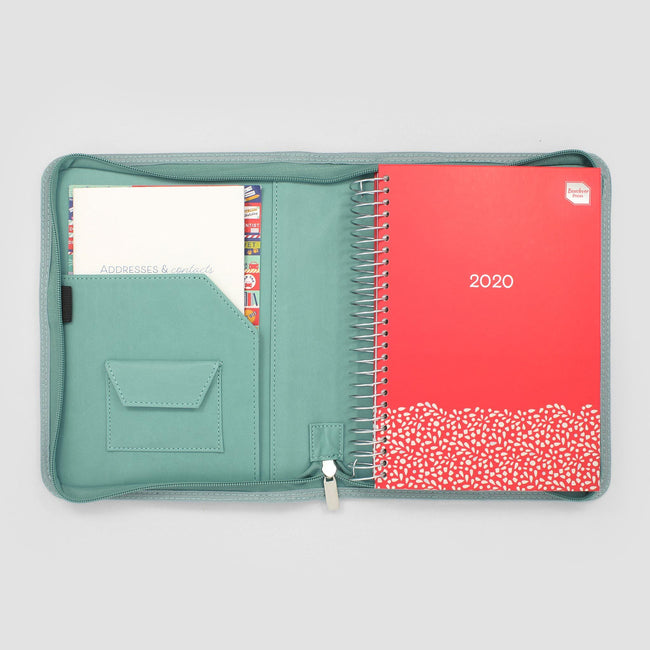 FLBLC-20-FOU_Gallery_11 Red 2020 Family Life Book diary in cover with pocket containing stickers and address book