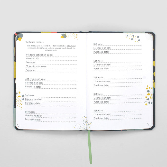Internet Password Notebook Passwortbuch (Englisch)