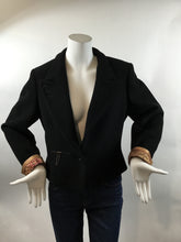 Load image into Gallery viewer, Barbara Bui Rare! Vintage Wool Black Blazer - Size M