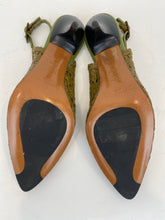 Load image into Gallery viewer, Vintage stephane kelian Size 36 Moss Green Woven Slingbacks
