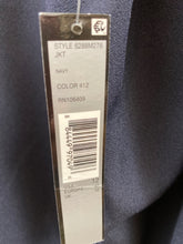 Load image into Gallery viewer, TAHARI Size 12 Navy Cape Blazer