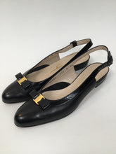 Load image into Gallery viewer, Salvatore Ferragamo 8 AA Black Slingbacks