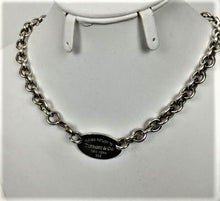Load image into Gallery viewer, Tiffany & Co. Oval Return to Tiffany Choker  Necklace - Like New!