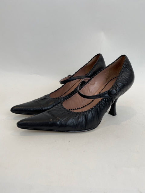 Franco Sarto size 6 Black Mary Jane Sassy Pumps