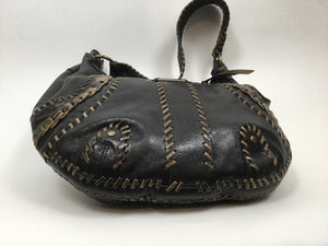 Isabella Fiore Large Brown & Taupe Hobo Shoulder Bag