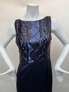 Adrianna Papel Navy Evening Gown - Size 8