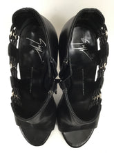 Load image into Gallery viewer, Giuseppe Zanotti Size 37 Peep Toe Black Ankle Pumps