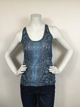 Load image into Gallery viewer, Barbara Bui Size S Blue Print Tank Top