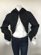 Load image into Gallery viewer, Giorgio Armani Black Label Size XS Black Shrug