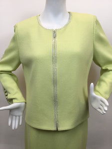 St. John Evening Size 10 Chartreuse Multi-Piece Set