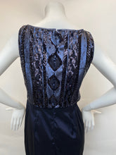 Load image into Gallery viewer, Adrianna Papel Navy Evening Gown - Size 8