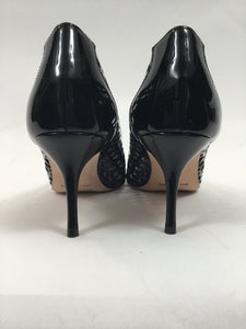 Manolo Blahnik Bibilaser Patent Leather size 37 Black Pumps