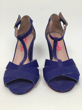 Load image into Gallery viewer, Betsey Johnson 7.5 Purple Sandals