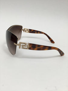 Versace Versace Shield Butterfly Tortoise/Brown Sunglasses