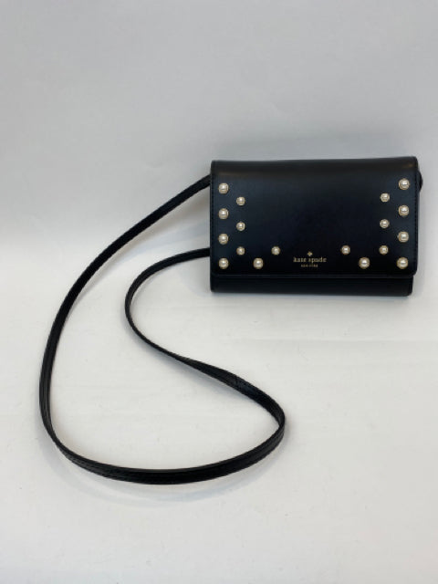 Kate Spade Women Size S Black Purse with Pearl Detail