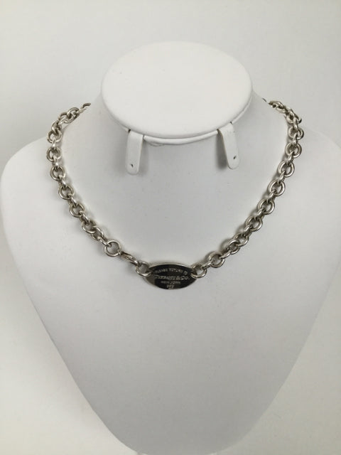 Tiffany & Co. Oval Return to Tiffany Choker  Necklace - Like New!