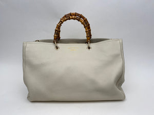 Gucci Bone Leather Bamboo Shopper - Large