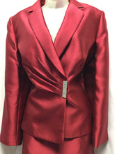 Load image into Gallery viewer, TAHARI Arthur Levine LUXE Size 12 Red Skirt Suit