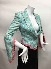 Load image into Gallery viewer, Antonio Berardi Size 42 Turquoise Print Blazer - Wow!
