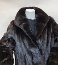 Load image into Gallery viewer, Vintage Size Medium Black  Mink  Full Length Coat