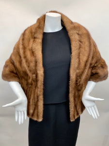 Vintage Honey Brown Mink Stole Late 1950's