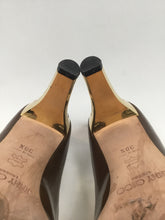 Load image into Gallery viewer, Jimmy Choo London Size 38.5 Patent Peep-toe  Pumps