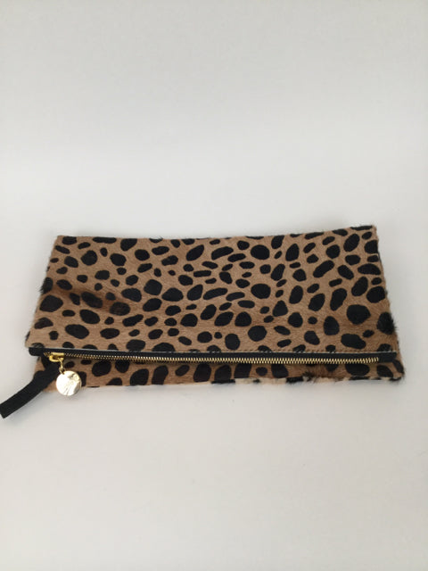 Claire Vivier Medium Leopard Folding Clutch